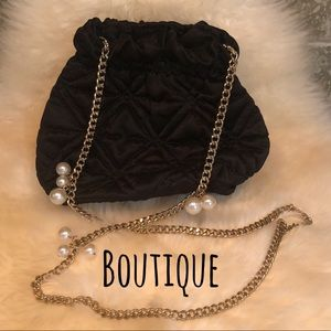 Boutique 🖤 Black Quilted Evening Bag Pouch
